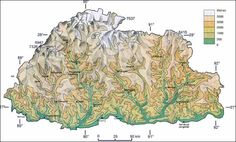 nepal topographic map Google Search Travel Pinterest