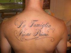 family come first in Italian