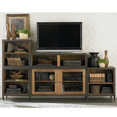 TV Stand Ideas – Nowadays, TV stand becomes one of the most essential home decorations. It completes the look of your home with a variety of materials and designs. TV stand ideas will also be helpful for people who are… Continue Reading → Decor, Furniture, Home Living Room, Farm House Living Room, Home, Living Room Entertainment Center, Credenza Tv Stand, Living Room Entertainment, Home And Living