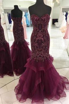 Vestidos tintos largos 2019
