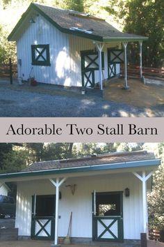 64 Ideas yard horse dream barn for 2019 Mini Horse Barn, Small Horse Barns, Mini Barn, Miniature Horse Barn, Horse Shed, Horse Barn Plans, Horse Stables, Horse Farms, Small Barn Plans