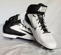 huge selection of 1dd70 29b0e NEW Nike Men s Huarache Pro Mid Metal Baseball Cleat White 599235-101 size  13