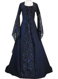 Vintage Royal Medieval Dresses - Blue