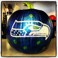 NFL Seattle Seahawks 12th Man Pumpkin.