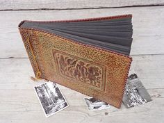 Vintage Luxury Leather Photo Album Large Brown Photo Album