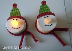 Chit Chats and Crafts : Snowmen Tea Lights