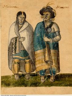 Hurons - Democracy in Montreal - Archives de Montréal Canadian History, Native American History, American Indians, First Nations, Huron Indians, Quebec, Navajo, Huron Wendat, Woodland Indians