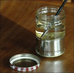 i learned this in college and have used it ever since: How to Make a Paintbrush Cleaner Jar