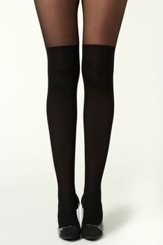 Over the Knee all Black Tights #genuine-people