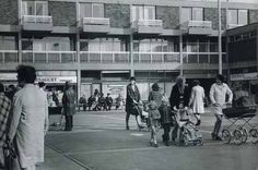 Shoppers in Sherbourne Square, Huyton, in 1972 Liverpool Life, Liverpool History, Farm Village, Personal History, Boy Pictures, Local History, The Good Old Days, Looking Back, Old Photos