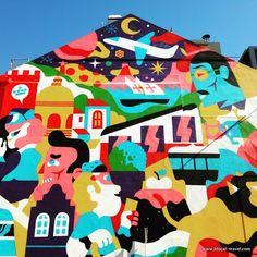 akacorleone + hedof street art lisbon || A comprehensive street art guide of Lisbon, Portugal - Read it here: http://www.blocal-travel.com/street-art/lisbon-street-art-guide/
