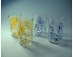 vintage swanky swig juice glasses