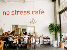 狎鷗亭 / Apgujeong ~ no stress cafe #shop #display #stress #wall #decal