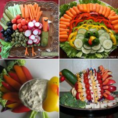I know what I'll be having for Thanksgiving! A turkey veggie tray! Looks delicious.