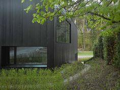 black timber cladding in switzerland