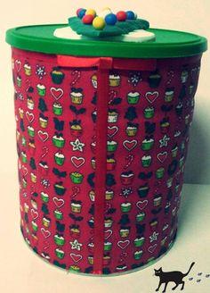 lata decorada natal - Pesquisa Google