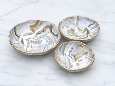 LUXE STARLIGHT INFUSION // CatchAll Dish Nesting 3Set//