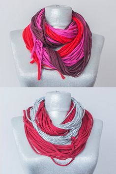 T-shirt Scarf Noodle Scarf Infinty Scarf Jersey Scarf by Urbe