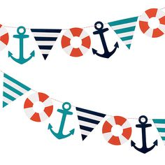 Nautical garland kit from Paper Source. www.paper-source.com
