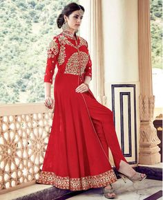 #hey @a1designerwear . Item code: APRL6156 . Buy Enticing Red Party Wear #salwar #kameez #onlineshopping with #worldwideshipping at  https://www.a1designerwear.com/enticing-red-party-wear-salwar-kameez-3   . #a1designerwear #a1designerwear . #instashop #worldwide #thankyou