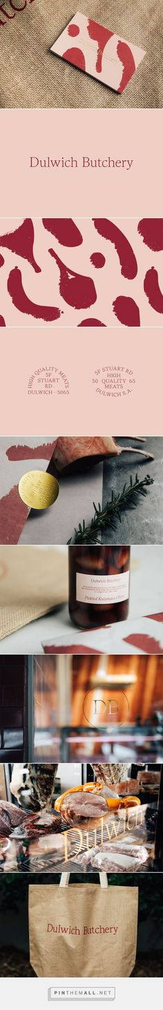 Dulwich Butchery by The Colour Club — The Brand Identity. - a grouped images picture - Pin Them All Design Logo, Brand Identity Design, Graphic Design Branding, Collateral Design, Stationery Design, Brand Packaging, Packaging Design, Food Packaging, Color Club