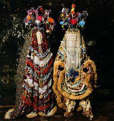 Some cross between an Egungun masquerade and a Christmas tree?  Phyllis Galembo