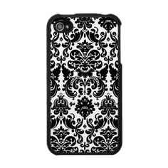 Black and White Damask iPhone Speck Case by Damask Gallery