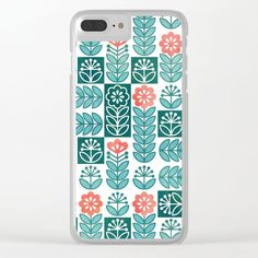 Buy Swedish folk flowers in green Clear iPhone Case by adenajdesign. Worldwide shipping available at Society6.com. Just one of millions of high quality products available.