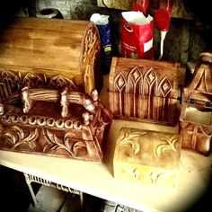 Damn soon in GS Studio offer #furniture #medieval #handcraft #woodwork #art # handmade #chests de gs_studio_armour_workshop