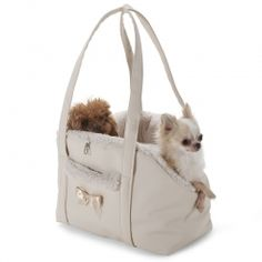 Eh Gia Bag Chique and Sportive Light Beige Hondendraagtas