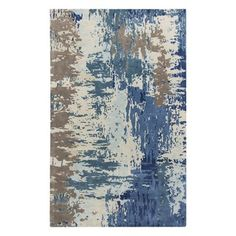 Surya Banshee Hand Tufted New Zealand Wool Rug Blue 8 x 11 Home Decor Rugs Rugs
