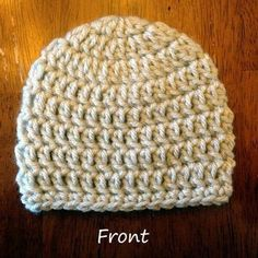 This is the perfect hat for beginners to crochet. It's very simple, yet produces a nice finished result that you can actually wear or give ... #CrochetBeanie