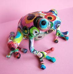 Paper Mache Frog
