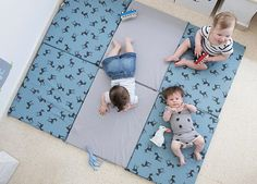 Flooring envy. Mat from ETSY. Great for babies learning to sit and doubles up as a tunnel! See our guide for more inspiration