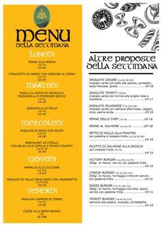 Se siete a Lugano potete passare per pranzo al Trinity Irish Pub che propone per la settimana...buon app By JaDa Solutions 😉