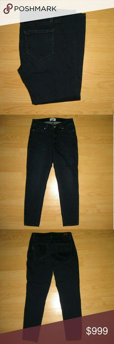 """Paige Verdugo Crop Skinny Jeans in Dream Catcher These jeans are preloved but still in very good condition. These are the Verdugo Crop Skinny jean in Dream Catcher. Made of 77% cotton 21% polyester 2% elastane. Tag size is 27.  Waist across with natural dip is 13.5"""" Waist across when aligned is 14"""" Front Rise is 7.5"""" Inseam is 25"""" Paige Jeans Jeans Ankle & Cropped"""