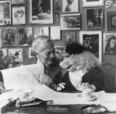 Gene Moore & MissPiggy ~ genius artist and window dresser for Tiffany's, Bergdorf's, Bonwit's.   #tiffanys #genemoore #windowdisplay