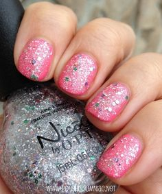 Nicole by OPI Shaved Nice over LeaPink for Joy Nail Polish Designs, Cute Nail Designs, Nail Polish Colors, Pedicure Ideas, Manicure And Pedicure, Nail Ideas, Opi Nails, Manicures, Nice Nails