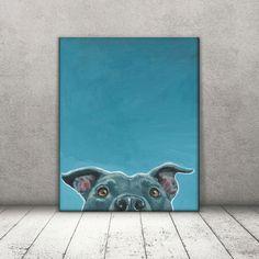 Pit Bull Art -Pit Bull Print - Amstaff Art - Pitbull Canvas - Pit Bull Decor - PitBull Mom - Dog Canvas - Rescue dog art - Blue Pitbull by DannyBStudios on Etsy https://www.etsy.com/listing/465422390/pit-bull-art-pit-bull-print-amstaff-art