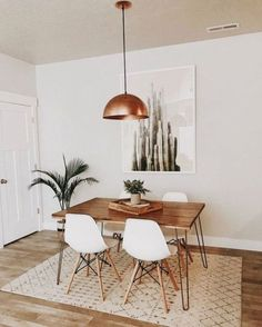 Minimalist Dining Room, Minimalist Interior, Modern Minimalist, Sweet Home, Chairs For Small Spaces, Mid Century Modern Living Room, Affordable Home Decor, Small Dining, Dining Room Design