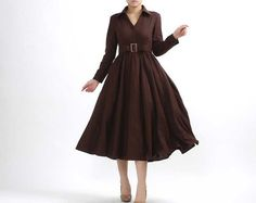 Hey, I found this really awesome Etsy listing at http://www.etsy.com/listing/60203690/dark-brown-maxi-linen-dress-304