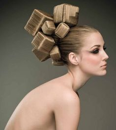 Square hair-I don't dare!  But love the look.