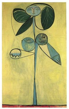 Femme Au Jardin by Pablo Picasso 32x24 Abstract Museum Art Print Poster