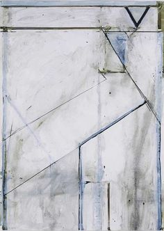 Richard Diebenkorn, Untitled (Ocean Park Drawing), 1971. Acrylic, wash and pencil on canvas, 25 x 18 inches.