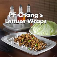 P.F. Chang's Lettuce Wrap Copy Cat Recipe...can't wait to try this!