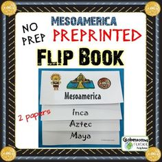 Students love hands-on activities!  This Flip Book is unique because the titles are preprinted and include fold lines to show kids exactly where to fold.  A VERY SERIOUS time-saver.
