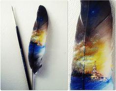 Micro Art 2013 Bir Kuş tüyü üzerinde Kız Kulesi...
