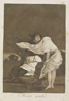 1799 Francesco Goya (1746-1828) Les Caprices planche 36 - mauvaise nuit