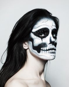 THE SKELETON Makeup: Pat McGrath; Hair: Holly Mills  Pictured: Amanda Welsh Photographed by Alessio Boni