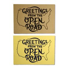Greetings From The Open Road Postcard
